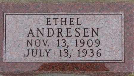 ANDRESEN, ETHEL - Dixon County, Nebraska | ETHEL ANDRESEN - Nebraska Gravestone Photos