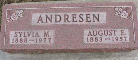 ANDRESEN, SYLVIA M. - Dixon County, Nebraska | SYLVIA M. ANDRESEN - Nebraska Gravestone Photos