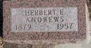 ANDREWS, HERBERT E. - Dixon County, Nebraska | HERBERT E. ANDREWS - Nebraska Gravestone Photos
