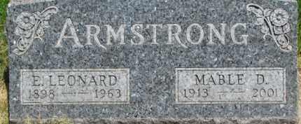 ARMSTRONG, MABLE D. - Dixon County, Nebraska   MABLE D. ARMSTRONG - Nebraska Gravestone Photos