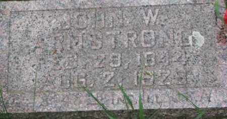 ARMSTRONG, JOHN W. - Dixon County, Nebraska | JOHN W. ARMSTRONG - Nebraska Gravestone Photos