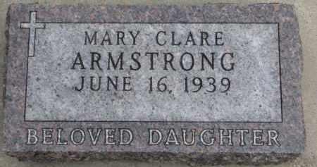 ARMSTRONG, MARY CLARE - Dixon County, Nebraska   MARY CLARE ARMSTRONG - Nebraska Gravestone Photos