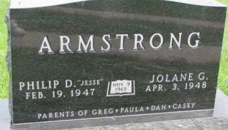 "ARMSTRONG, PHILIP D. ""JESSE"" - Dixon County, Nebraska | PHILIP D. ""JESSE"" ARMSTRONG - Nebraska Gravestone Photos"