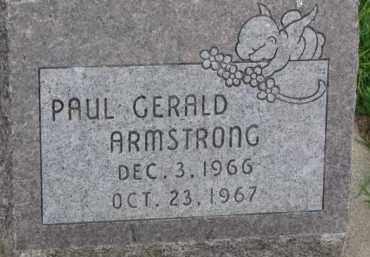 ARMSTRONG, PAUL GERALD - Dixon County, Nebraska | PAUL GERALD ARMSTRONG - Nebraska Gravestone Photos