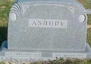ASBURY, CHRISTINA - Dixon County, Nebraska | CHRISTINA ASBURY - Nebraska Gravestone Photos