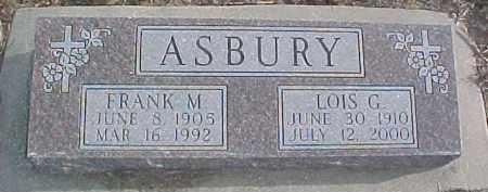 ASBURY, FRANK M. - Dixon County, Nebraska | FRANK M. ASBURY - Nebraska Gravestone Photos