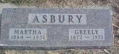 ASBURY, GREELY - Dixon County, Nebraska   GREELY ASBURY - Nebraska Gravestone Photos