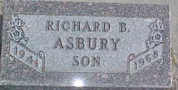 ASBURY, RICHARD B. - Dixon County, Nebraska | RICHARD B. ASBURY - Nebraska Gravestone Photos