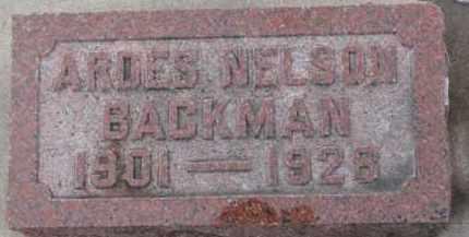 NELSON BACKMAN, ARDES - Dixon County, Nebraska | ARDES NELSON BACKMAN - Nebraska Gravestone Photos
