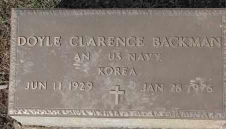 BACKMAN, DOYLE CLARENCE (MILITARY MARKER) - Dixon County, Nebraska | DOYLE CLARENCE (MILITARY MARKER) BACKMAN - Nebraska Gravestone Photos