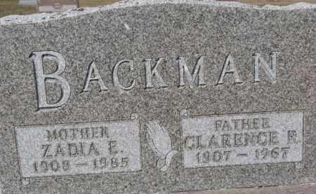 BACKMAN, ZADIA E. - Dixon County, Nebraska | ZADIA E. BACKMAN - Nebraska Gravestone Photos