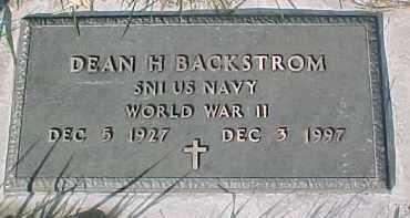 BACKSTROM, DEAN H. (WW II MARKER) - Dixon County, Nebraska | DEAN H. (WW II MARKER) BACKSTROM - Nebraska Gravestone Photos