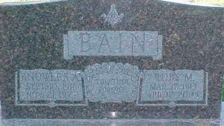 BAIN, RUBY M. - Dixon County, Nebraska | RUBY M. BAIN - Nebraska Gravestone Photos