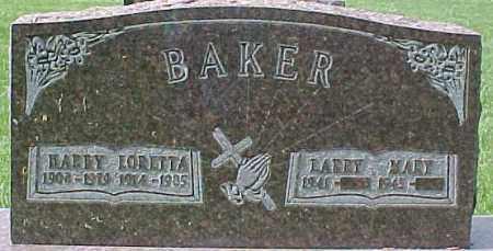 BAKER, MARY - Dixon County, Nebraska | MARY BAKER - Nebraska Gravestone Photos
