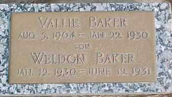 BAKER, WELDON - Dixon County, Nebraska | WELDON BAKER - Nebraska Gravestone Photos
