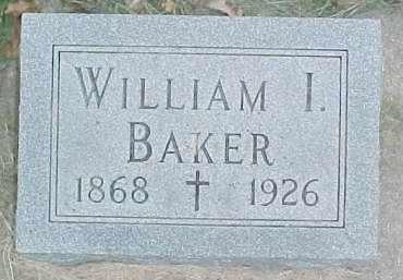 BAKER, WILLIAM I. - Dixon County, Nebraska | WILLIAM I. BAKER - Nebraska Gravestone Photos