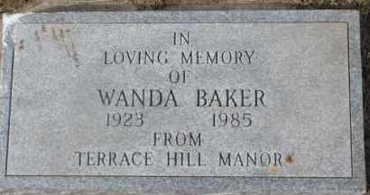 BAKER, WANDA - Dixon County, Nebraska | WANDA BAKER - Nebraska Gravestone Photos