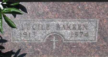 BAKKEN, LUCILE - Dixon County, Nebraska | LUCILE BAKKEN - Nebraska Gravestone Photos