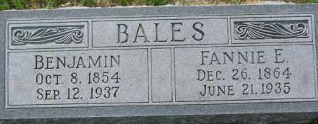 BALES, FANNIE E. - Dixon County, Nebraska | FANNIE E. BALES - Nebraska Gravestone Photos