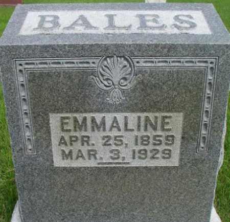 BALES, EMMALINE - Dixon County, Nebraska   EMMALINE BALES - Nebraska Gravestone Photos