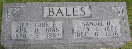 BALES, GERTRUDE F. - Dixon County, Nebraska   GERTRUDE F. BALES - Nebraska Gravestone Photos