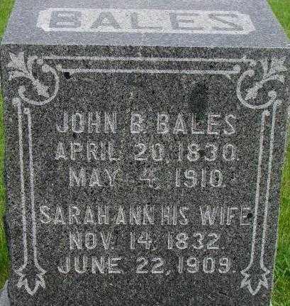 BALES, JOHN B. - Dixon County, Nebraska | JOHN B. BALES - Nebraska Gravestone Photos