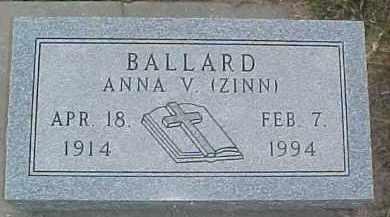 BALLARD, ANNA V. - Dixon County, Nebraska | ANNA V. BALLARD - Nebraska Gravestone Photos