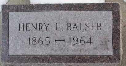 BALSER, HENRY L. - Dixon County, Nebraska | HENRY L. BALSER - Nebraska Gravestone Photos