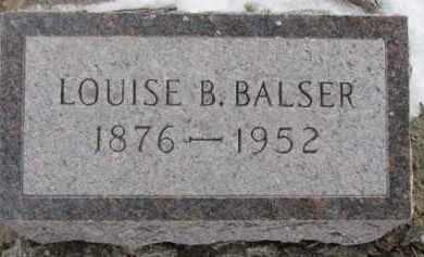 BALSER, LOUISE B. - Dixon County, Nebraska   LOUISE B. BALSER - Nebraska Gravestone Photos