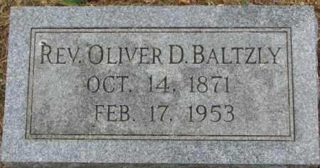 BALTZLY, REV. OLIVER D. - Dixon County, Nebraska | REV. OLIVER D. BALTZLY - Nebraska Gravestone Photos