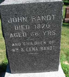 BANDT, JOHN (AND OTHERS) - Dixon County, Nebraska | JOHN (AND OTHERS) BANDT - Nebraska Gravestone Photos