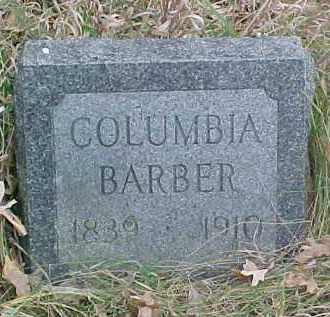BARBER, COLUMBIA - Dixon County, Nebraska   COLUMBIA BARBER - Nebraska Gravestone Photos