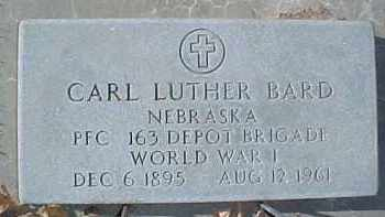BARD, CARL LUTHER - Dixon County, Nebraska | CARL LUTHER BARD - Nebraska Gravestone Photos