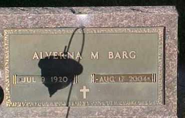 BARG, ALVERNA M - Dixon County, Nebraska | ALVERNA M BARG - Nebraska Gravestone Photos