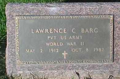 BARG, LAWRENCE C. (WW II MARKER) - Dixon County, Nebraska | LAWRENCE C. (WW II MARKER) BARG - Nebraska Gravestone Photos