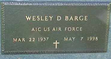 BARGE, WESLEY D. (MILITARY MARKER) - Dixon County, Nebraska | WESLEY D. (MILITARY MARKER) BARGE - Nebraska Gravestone Photos