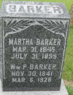 BARKER, MARTHA - Dixon County, Nebraska | MARTHA BARKER - Nebraska Gravestone Photos