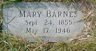 BARNES, MARY - Dixon County, Nebraska | MARY BARNES - Nebraska Gravestone Photos