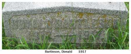 BARTLESON, DONALD - Dixon County, Nebraska | DONALD BARTLESON - Nebraska Gravestone Photos