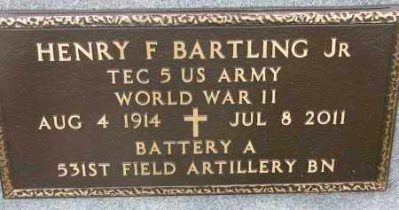 BARTLING, HENRY F. JR. (WW II) - Dixon County, Nebraska | HENRY F. JR. (WW II) BARTLING - Nebraska Gravestone Photos