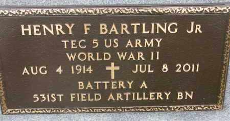BARTLING, HENRY F. JR. (WW II) - Dixon County, Nebraska   HENRY F. JR. (WW II) BARTLING - Nebraska Gravestone Photos