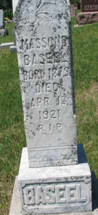 BASEEL, MASSON B. - Dixon County, Nebraska | MASSON B. BASEEL - Nebraska Gravestone Photos