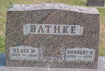BATHKE, ELSIE M. - Dixon County, Nebraska | ELSIE M. BATHKE - Nebraska Gravestone Photos