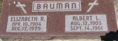 BAUMAN, ELIZABETH R. - Dixon County, Nebraska   ELIZABETH R. BAUMAN - Nebraska Gravestone Photos