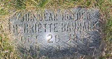BAUMANN, HENRIETTE - Dixon County, Nebraska | HENRIETTE BAUMANN - Nebraska Gravestone Photos