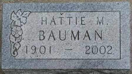 BAUMAN, HATTIE M. - Dixon County, Nebraska | HATTIE M. BAUMAN - Nebraska Gravestone Photos