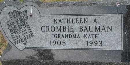 BAUMAN, KATHLEEN A/ - Dixon County, Nebraska | KATHLEEN A/ BAUMAN - Nebraska Gravestone Photos