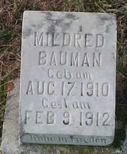 BAUMAN, MILDRED - Dixon County, Nebraska | MILDRED BAUMAN - Nebraska Gravestone Photos