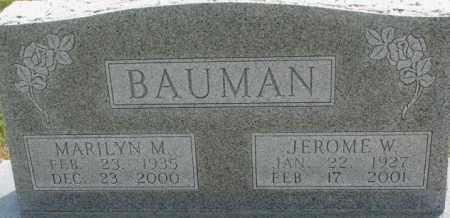 BAUMAN, MARILYN M. - Dixon County, Nebraska | MARILYN M. BAUMAN - Nebraska Gravestone Photos