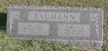 BAUMANN, ALBERT F. - Dixon County, Nebraska | ALBERT F. BAUMANN - Nebraska Gravestone Photos